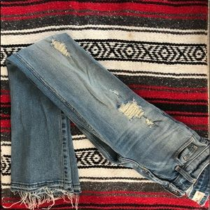 hollister distressed boot cut jeans size 25